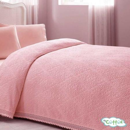 "Покрывало розовоев наборе""La Perla"" от Tivolyo Home"