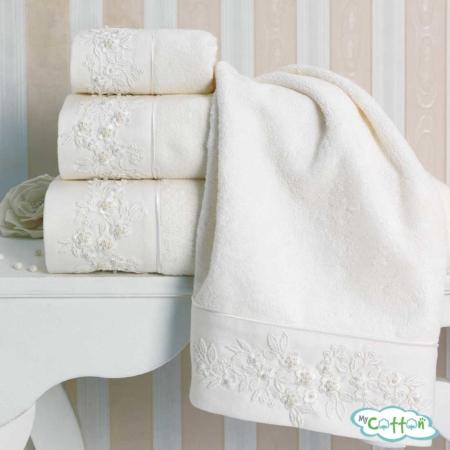 Полотенце махровое Soft Cotton белое MASAL