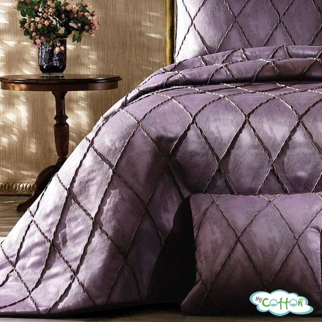 """Покрывало фиолетовое в наборе""""PARMA"""" от Grazie Home"""