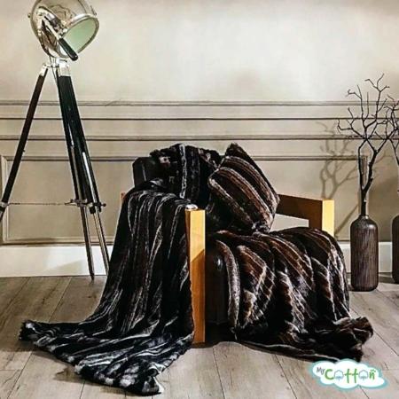"""Плед из искусственного меха Tivolyo home """"RIO"""" коричневый"""
