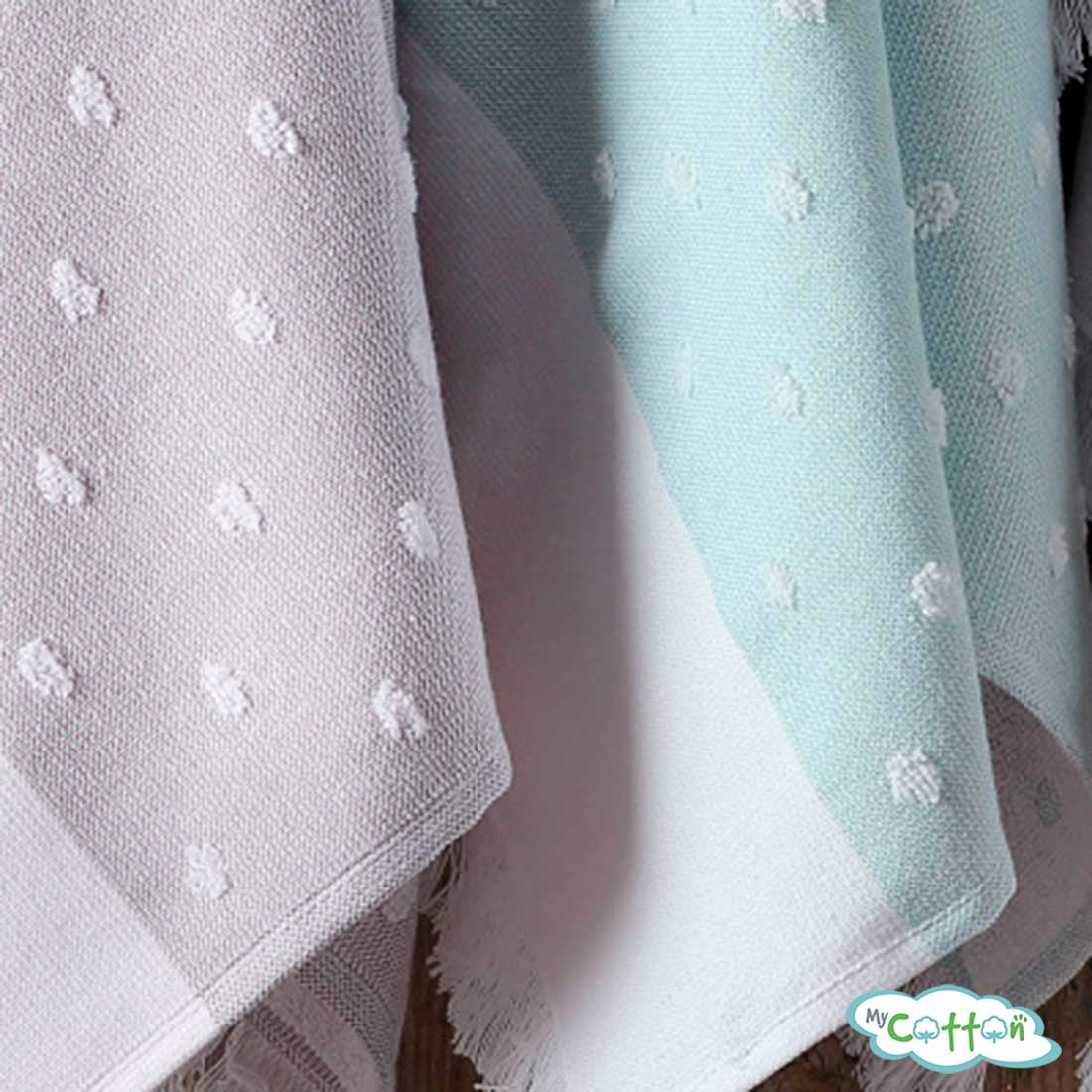 "Кухонное полотенце жаккард Tivolyo Home ""DOTTY"", цвет голубой"