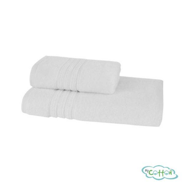 Полотенце махровое Soft Cotton белое ARIAс фирменной антибактериальной обработкой MIKROBAN