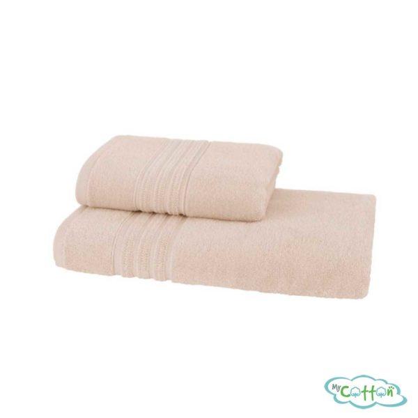 Полотенце махровое Soft Cotton бежевое ARIAс фирменной антибактериальной обработкой MIKROBAN