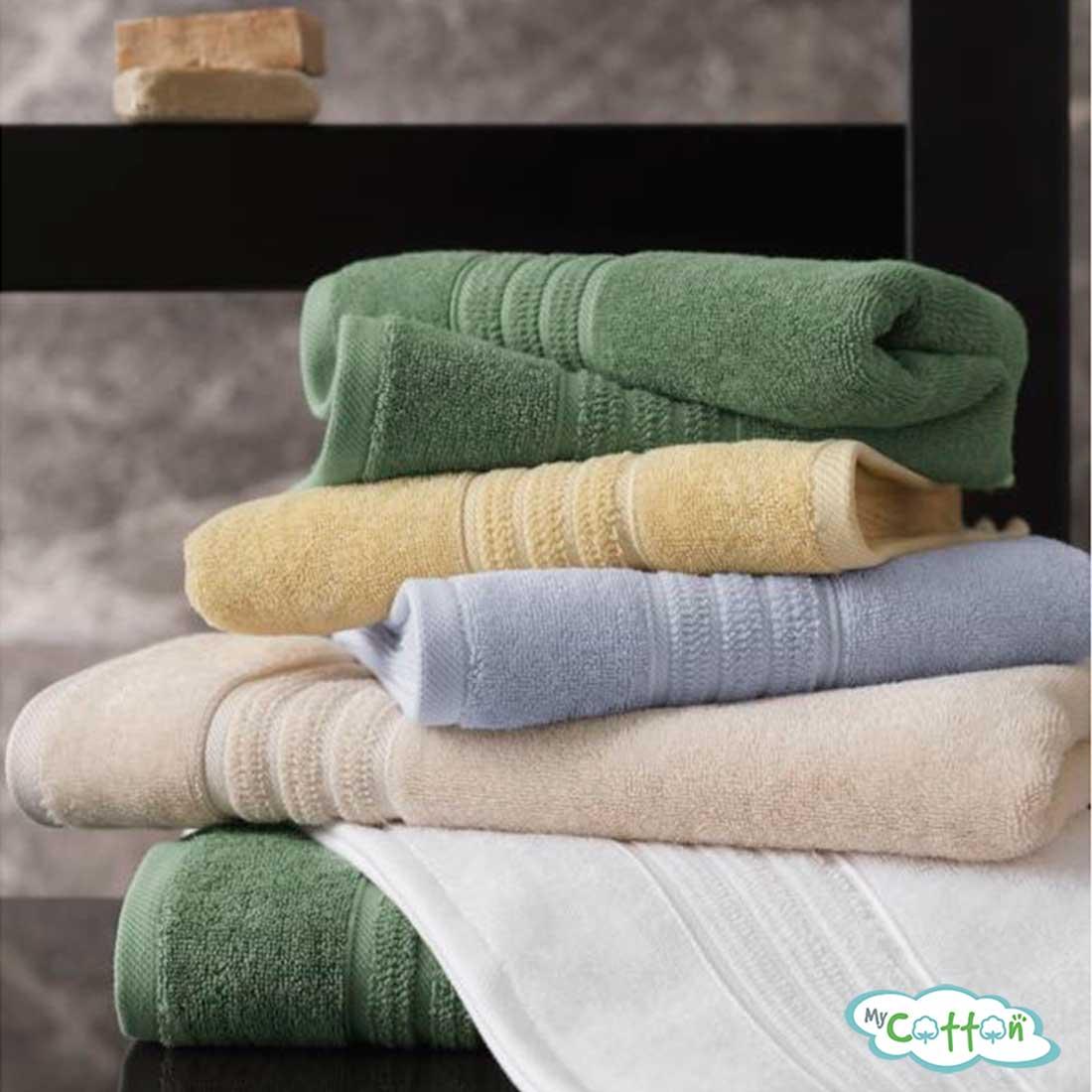 Полотенце махровое Soft Cotton светло-голубоеARIAс фирменной антибактериальной обработкой MIKROBAN