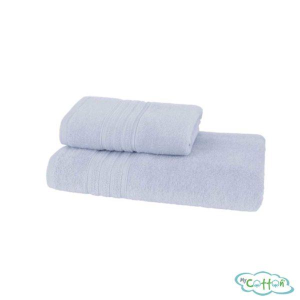 Полотенце махровое Soft Cotton светло-голубоеARIAс фирменной антибактериальной обработкой MIKROBAN-