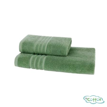 Полотенце махровое Soft Cotton зелёное ARIAс фирменной антибактериальной обработкой MIKROBAN
