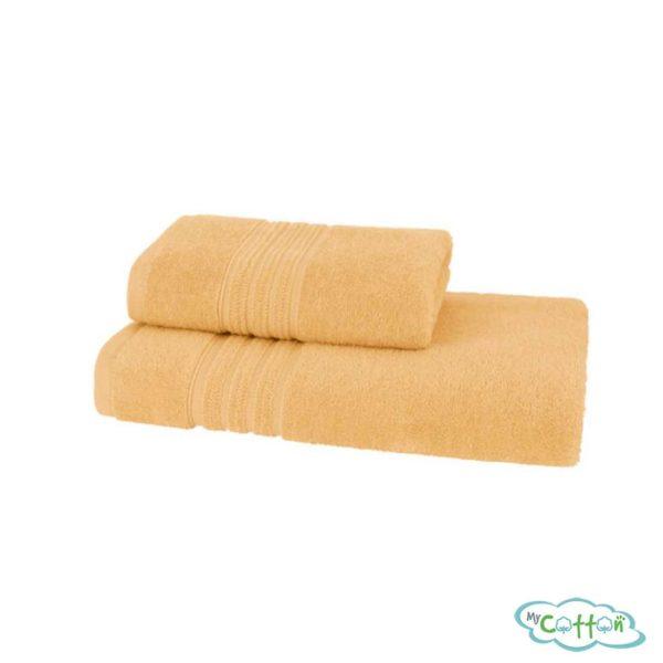 Полотенце махровое Soft Cotton жёлтое ARIAс фирменной антибактериальной обработкой MIKROBAN