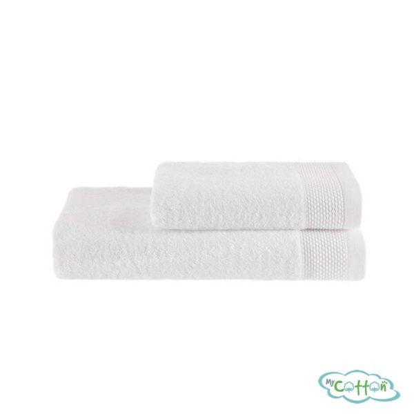 Полотенце махровое Soft Cotton белое BAMBU