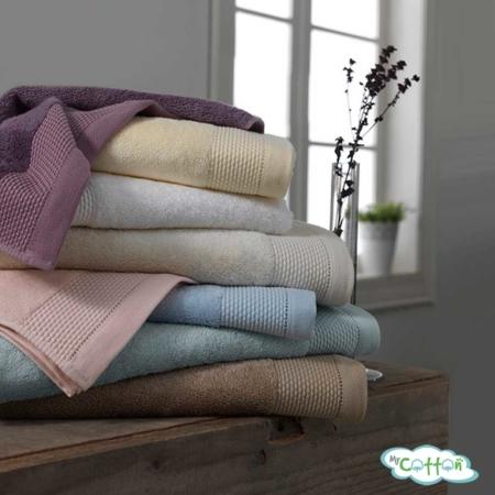 Полотенце махровое Soft Cotton бежевое BAMBU-