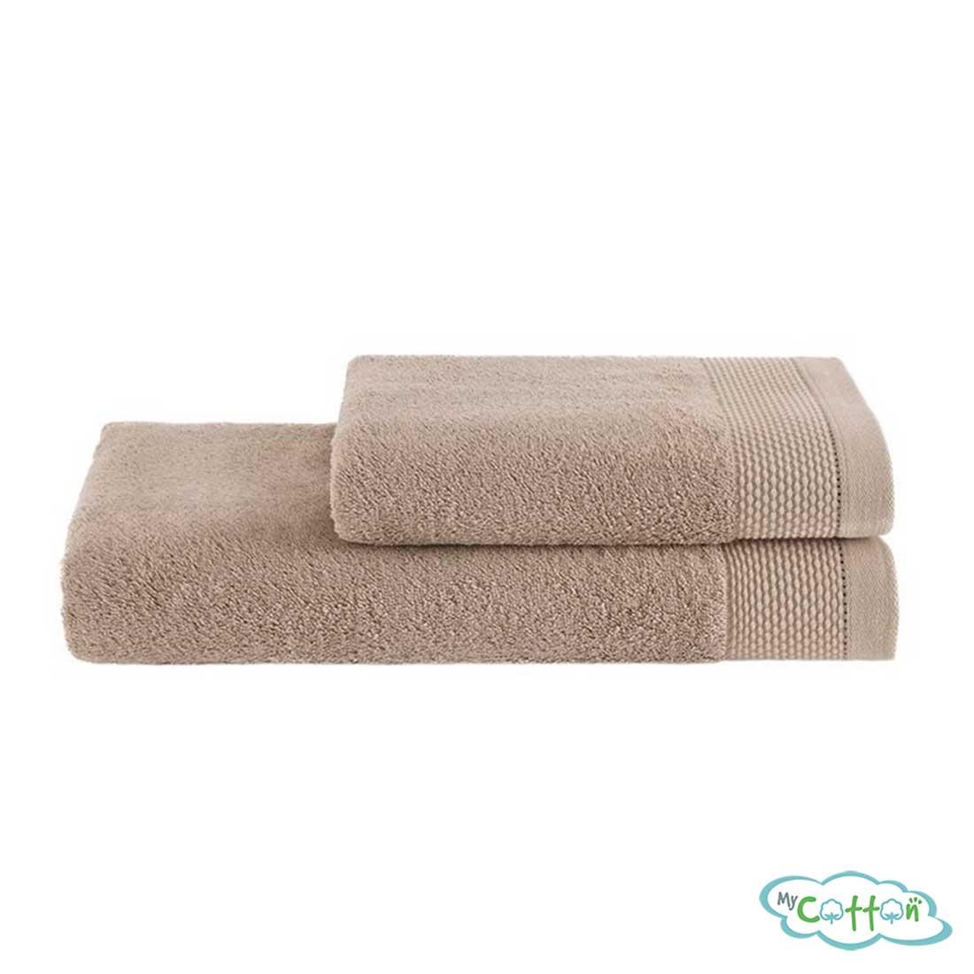 Полотенце махровое Soft Cotton бежевое BAMBU