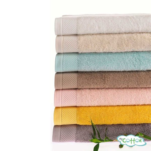 Полотенце махровое Soft Cotton бежевое BAMBU/
