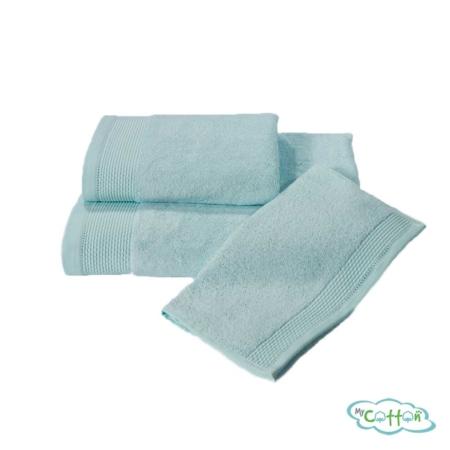 Полотенце махровое Soft Cotton бирюзовое BAMBU