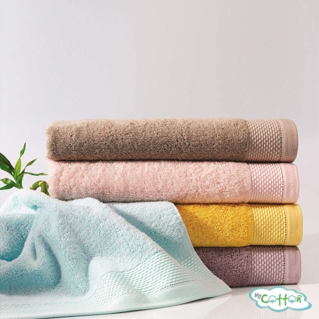 Полотенце махровое Soft Cotton бирюзовое BAMBU-