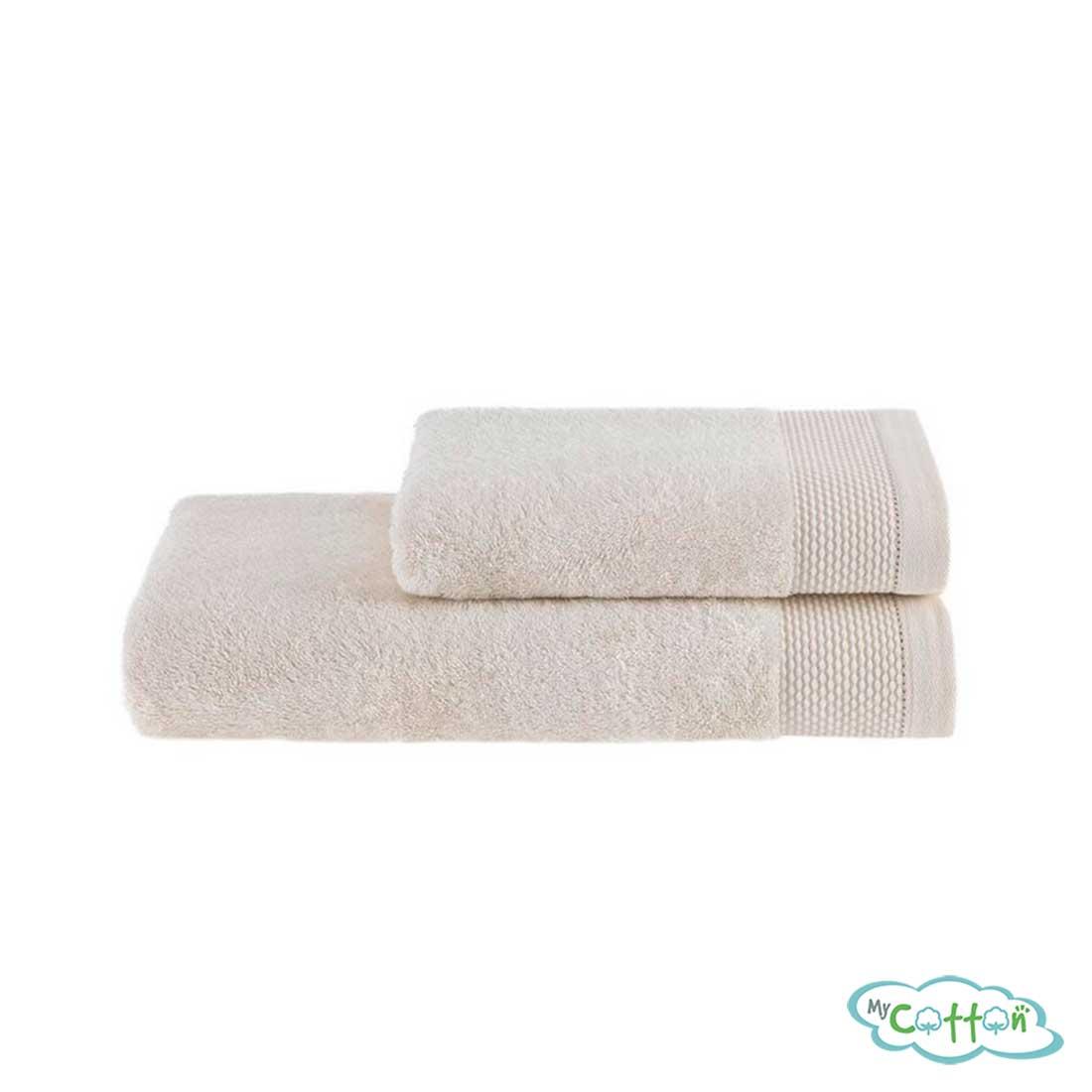 Полотенце махровое Soft Cotton экрюBAMBU