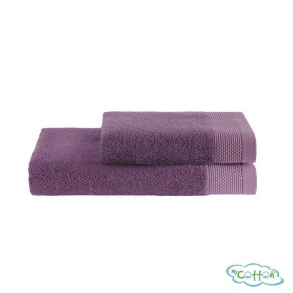 Полотенце махровое Soft Cotton фиолетовое BAMBU
