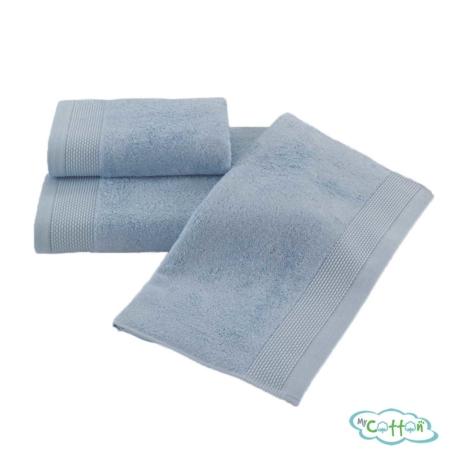 Полотенце махровое Soft Cotton светло-голубое BAMBU