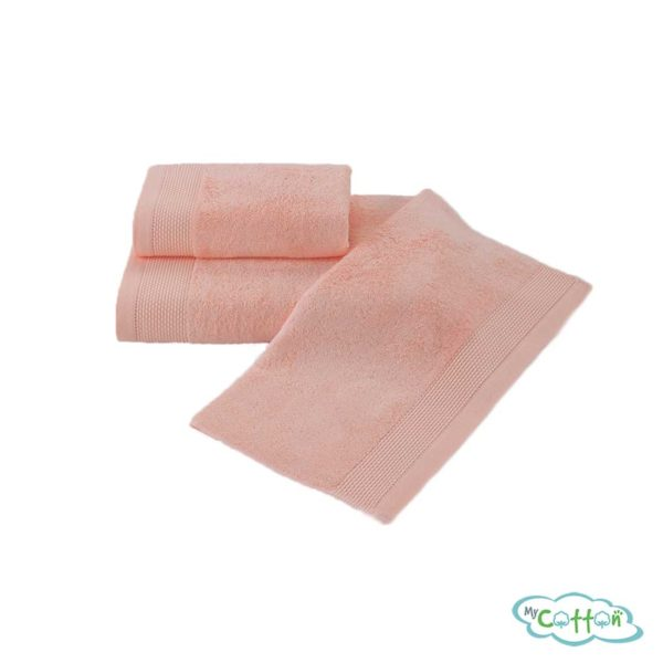 Полотенце махровое Soft Cotton персиковое BAMBU