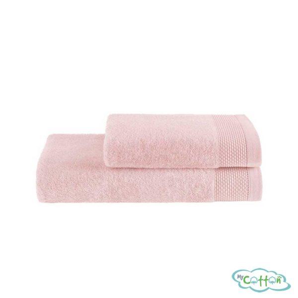 Полотенце махровое Soft Cotton розовое BAMBU