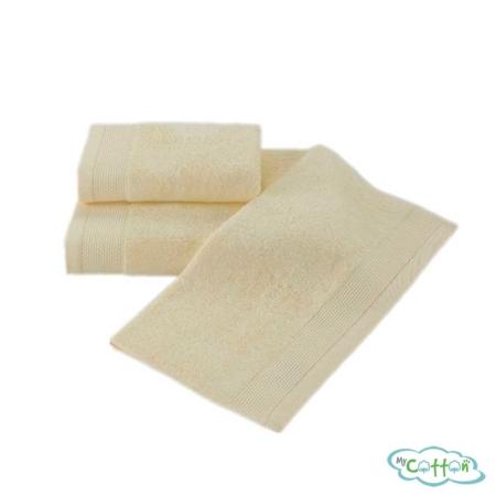 Полотенце махровое Soft Cotton жёлтое BAMBU
