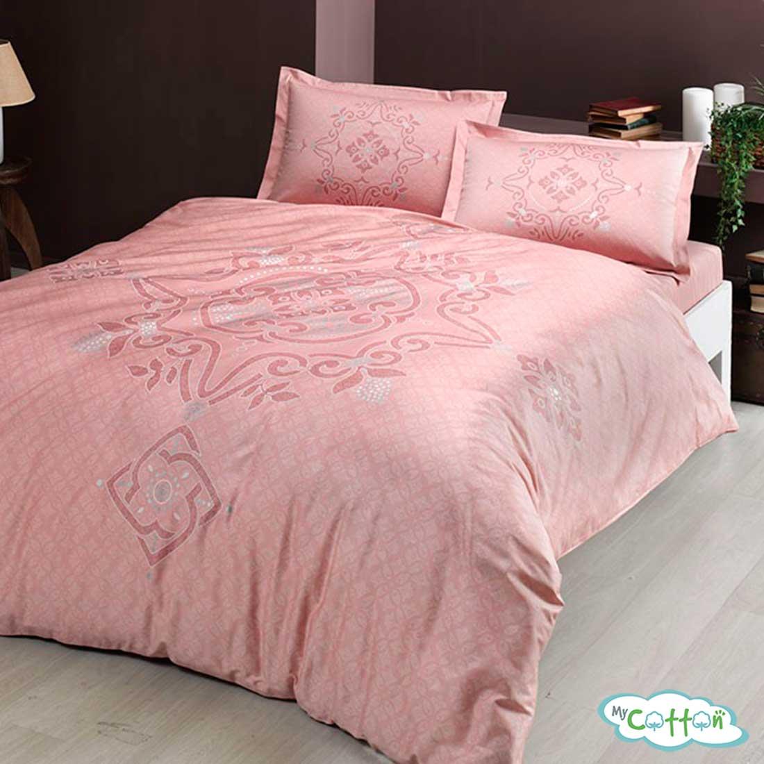 Комплект постельного белья TAC,BRUNA розовый
