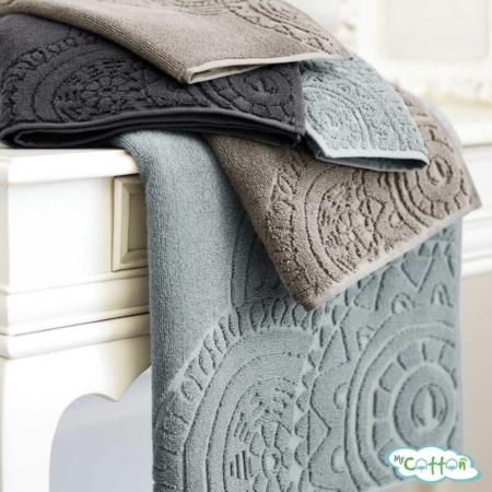 Полотенце махровое Soft Cotton коричневое CIRCLE-