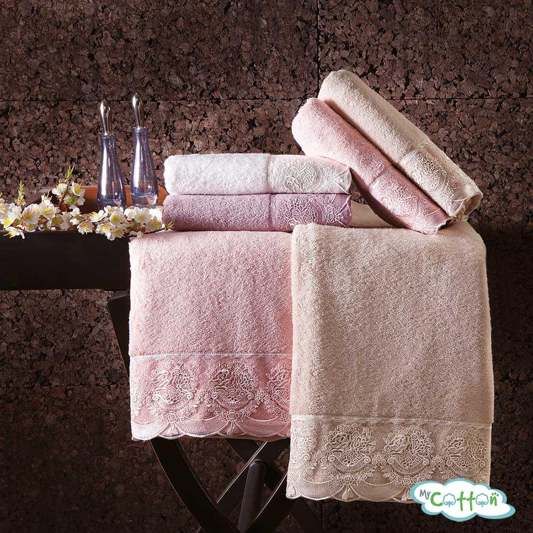 Полотенце махровое Tivolyo Home фиолетовое DIAMANT