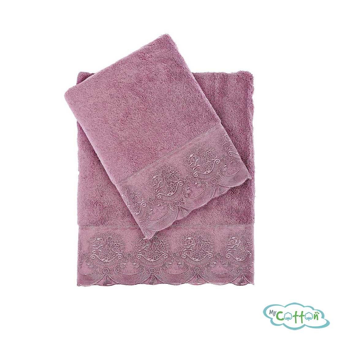 Полотенце махровое Tivolyo Home фиолетовое DIAMANT/