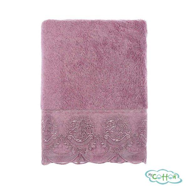 Полотенце махровое Tivolyo Home фиолетовое DIAMANT-