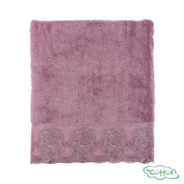 Полотенце махровое Tivolyo Home фиолетовое DIAMANT_