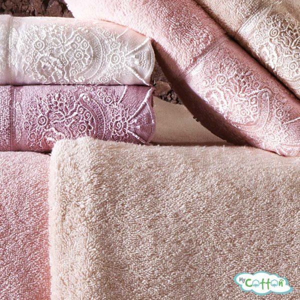 Полотенце махровое Tivolyo Home фиолетовое DIAMANT>
