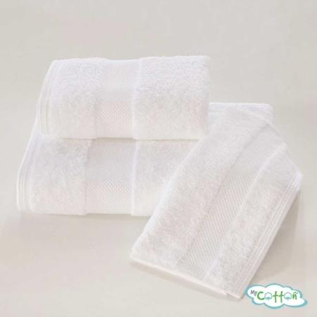 Полотенце махровое Soft Cotton белое Deluxe