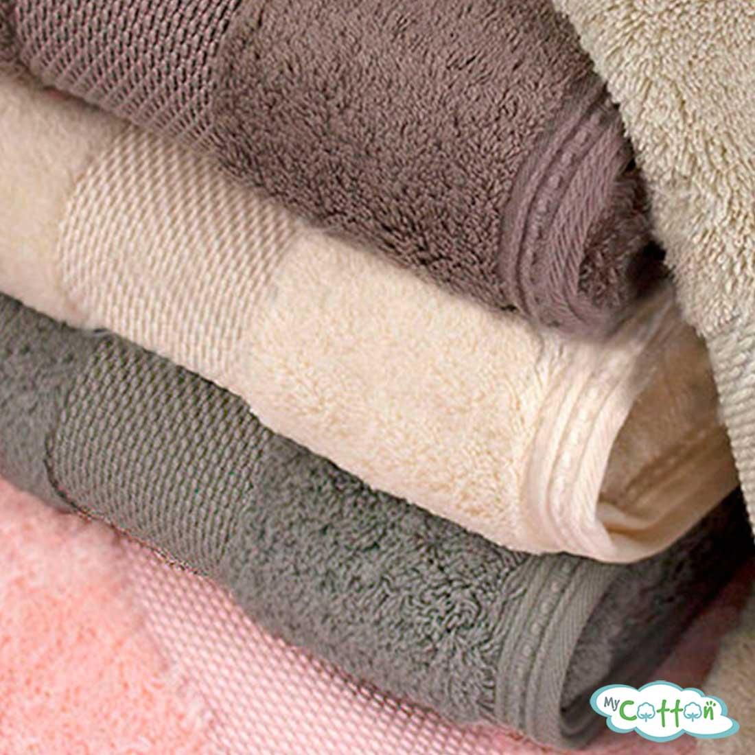 Полотенце махровое Soft Cotton светло-бежевое Deluxe