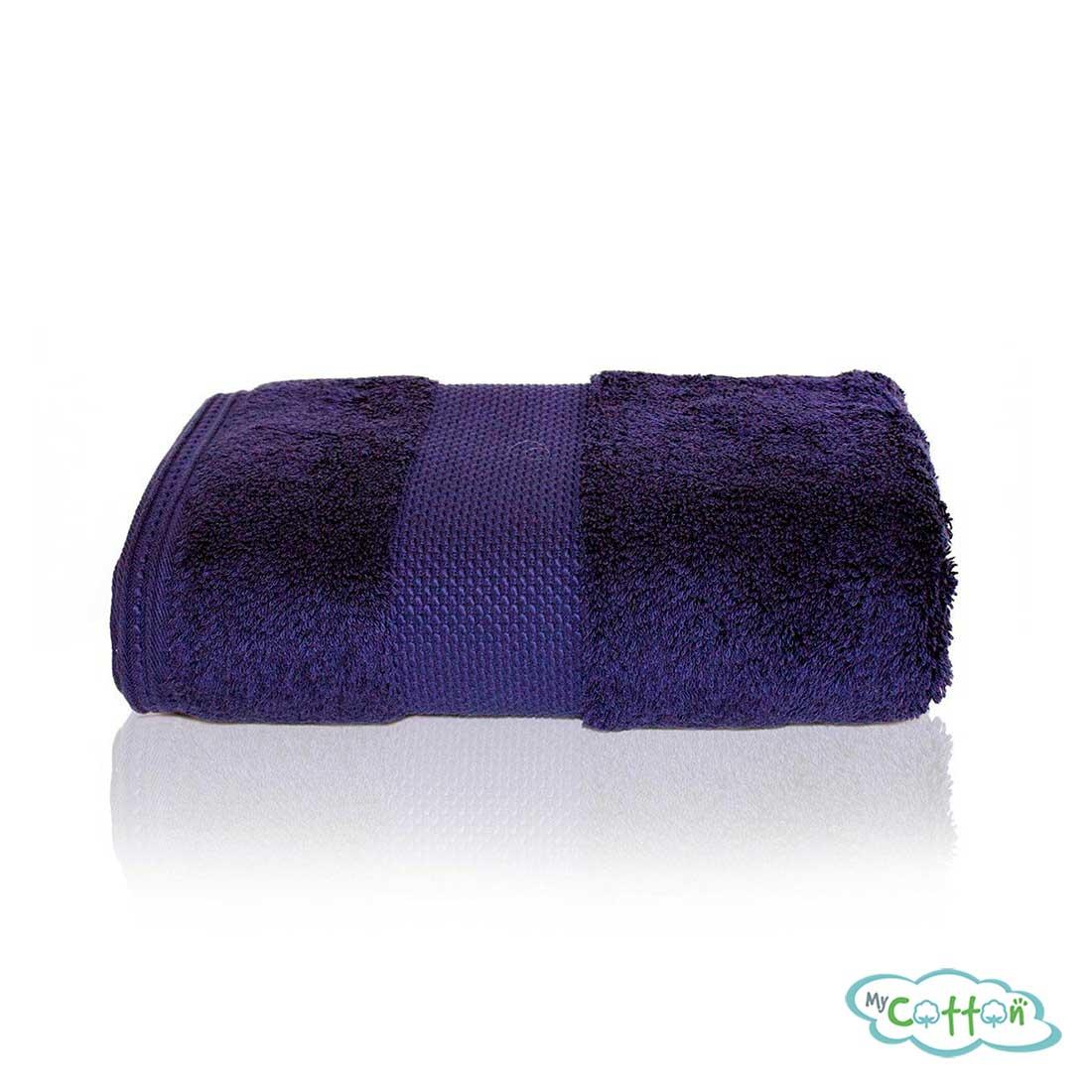Полотенце махровое Soft Cotton фиолетовое Deluxe