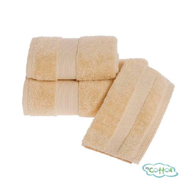 Полотенце махровое Soft Cotton желтое Deluxe