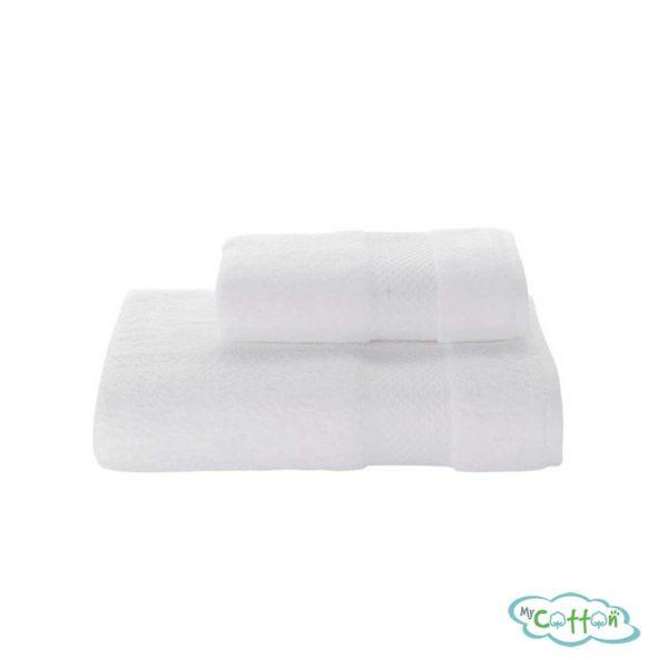 Полотенце махровое Soft Cotton белое ELEGANCE