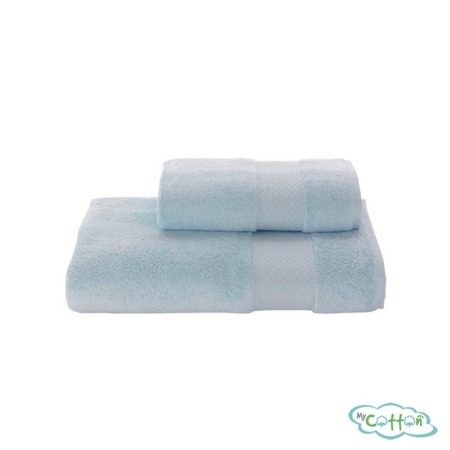 Полотенце махровое Soft Cotton бирюзовое ELEGANCE