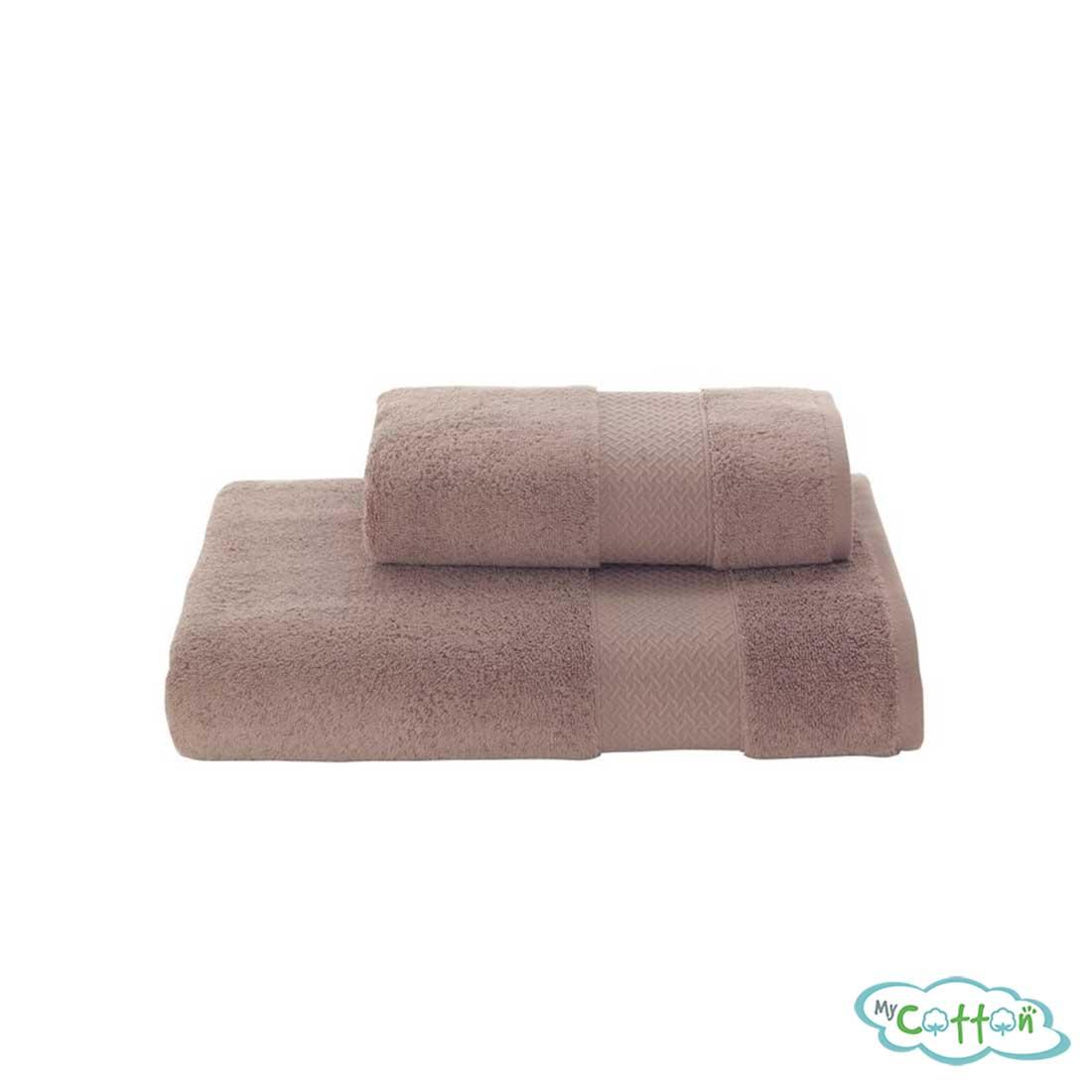 Полотенце махровое Soft Cottonкоричневое ELEGANCE