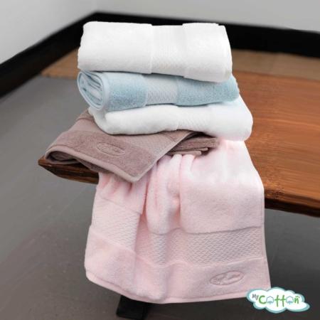 Полотенце махровое Soft Cotton розовое ELEGANCE/