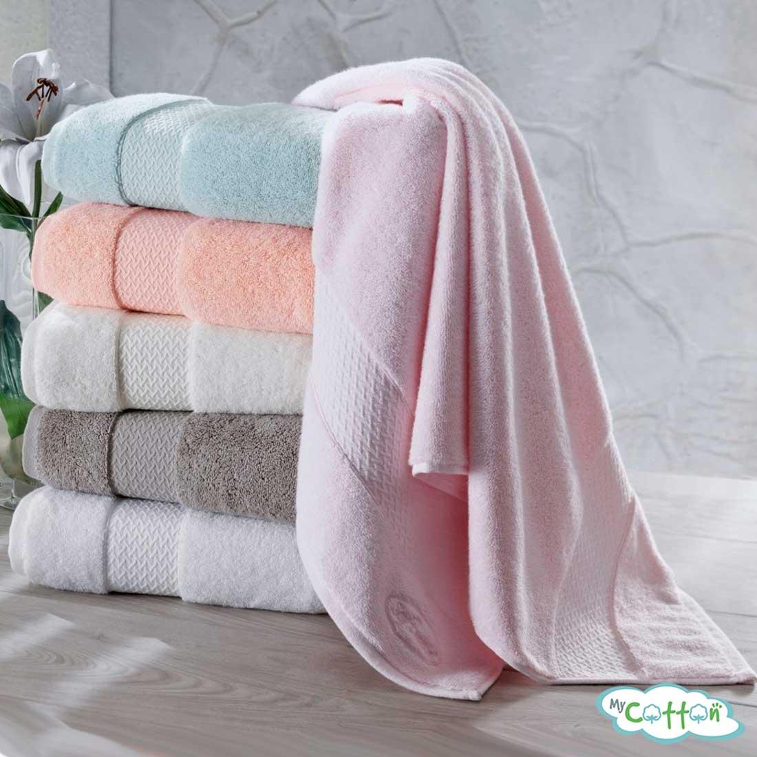 Полотенце махровое Soft Cotton розовое ELEGANCE-