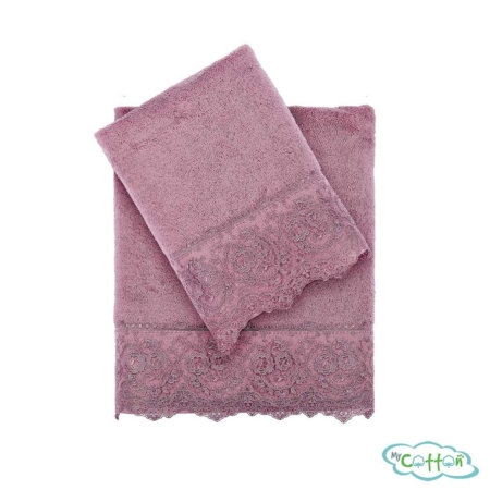 Полотенце махровое Tivolyo HomeфиолетовоеELEGANT-