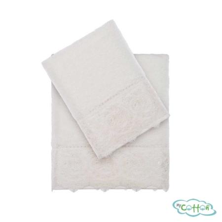 Полотенце махровое Tivolyo Home кремовое ELEGANT-