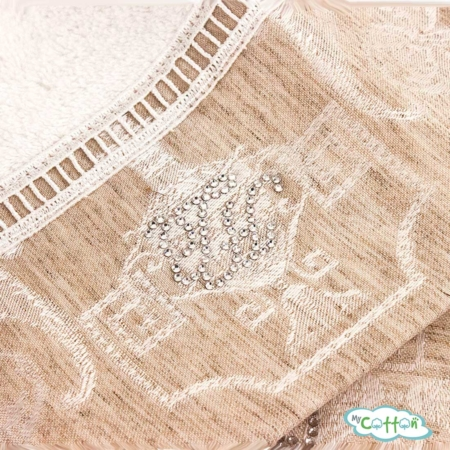 Полотенце махровое Tivolyo Homeбелое EMPERIUM-
