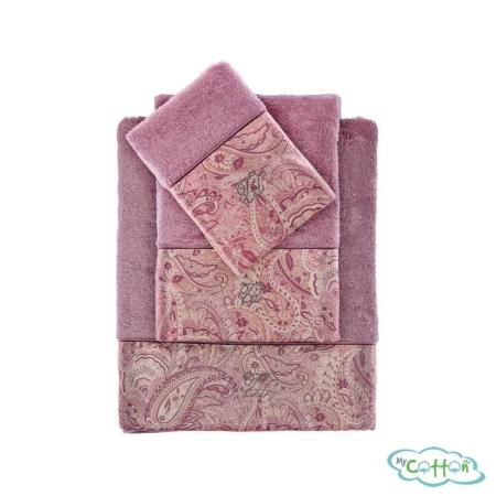 Полотенце махровое Tivolyo Home фиолетовое ETTO/