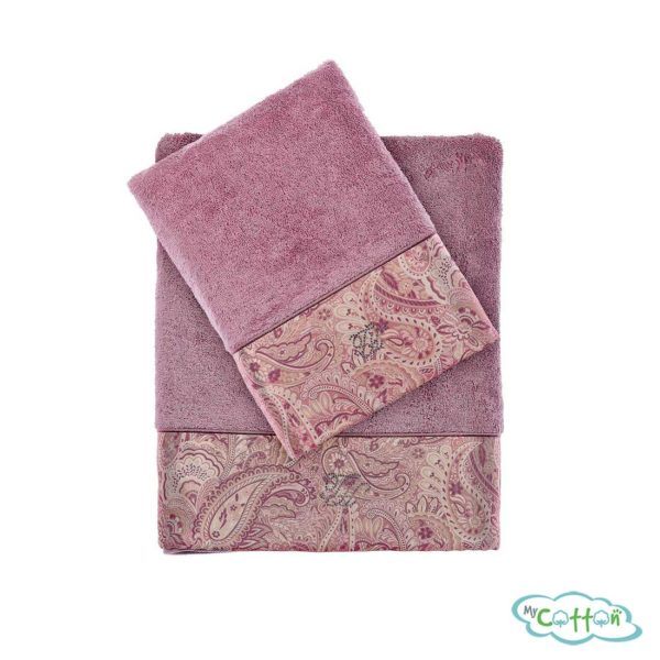 Полотенце махровое Tivolyo Home фиолетовое ETTO