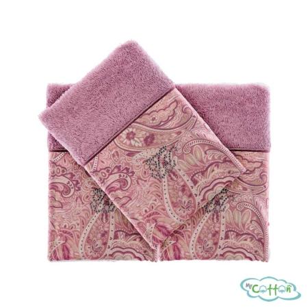 Полотенце махровое Tivolyo Home фиолетовое ETTO-