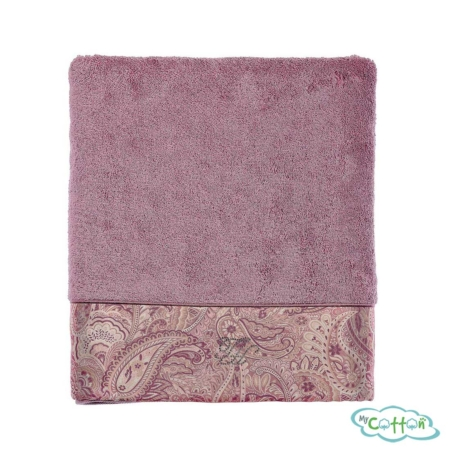 Полотенце махровое Tivolyo Home фиолетовое ETTO=