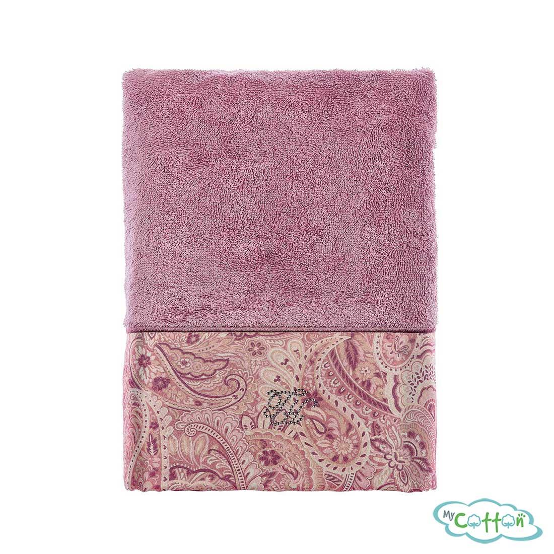Полотенце махровое Tivolyo Home фиолетовое ETTO>