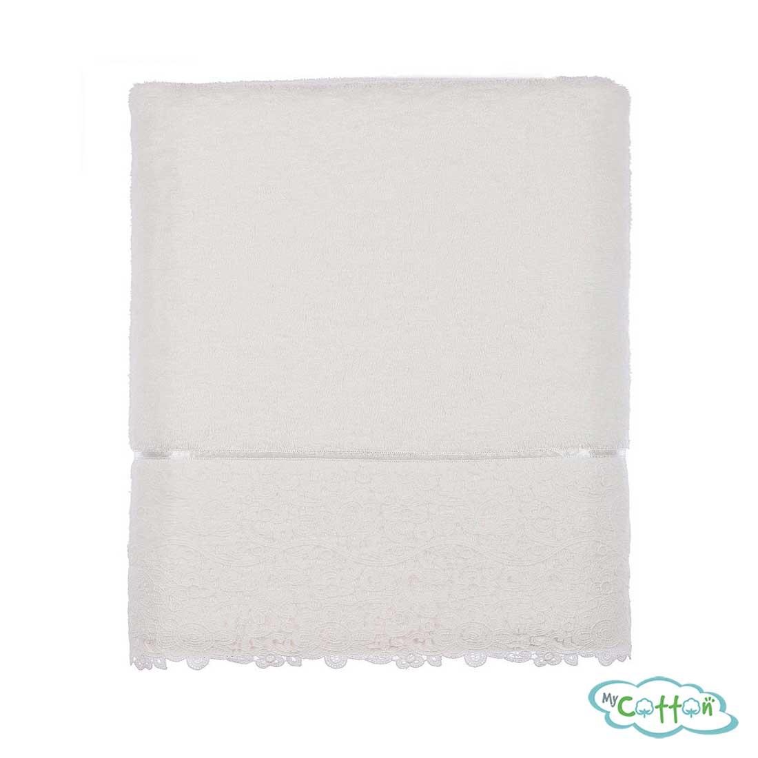 Набор из трёх полотенец махровых Tivolyo Home белый FORZA-
