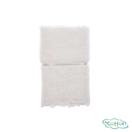 Набор из трёх полотенец махровых Tivolyo Home белый FORZA/
