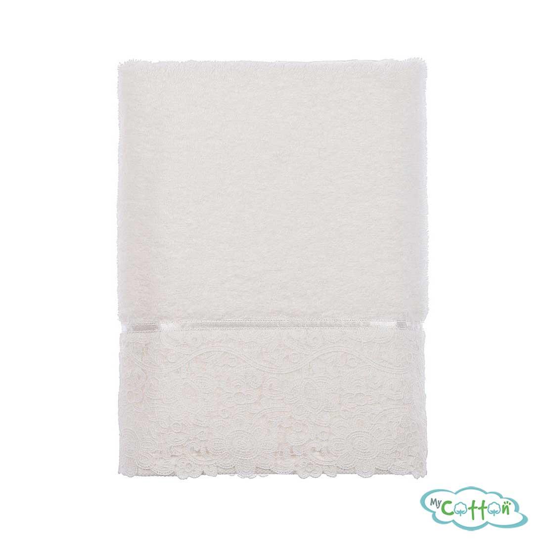 Набор из трёх полотенец махровых Tivolyo Home белый FORZA=
